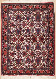 This beautiful Handmade Knotted Rectangular rug is approximately 3 x 4 New Contemporary area rug from our large collection of handmade area rugs with Persian Bijar style from Iran/Persia with Wool