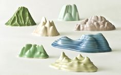 tiny mountains to go with the tiny houses.