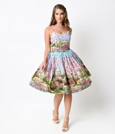 Oh, darling, take us to cherry tree lane! With a breathtaking blooming park print, the Chelsea dress from Bernie Dexter...Price - $154.00-DLCOTTQW