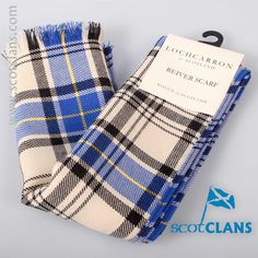 Hannay Tartan Reiver Weight Scarf. Free worldwide shipping available