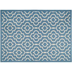 Safavieh Courtyard Clover Canyon Quatrefoil Indoor Outdoor Rug, Blue