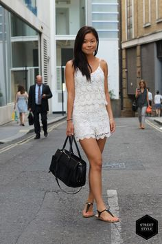 If playsuits aren't your thing, then why not try a co-ord set like Tracy? This delicate lace piece is from Zara. Matching sets are extremely on trend this season and for a look at the best on the high street, have a look here. #blackballad #streetstyle #fashion