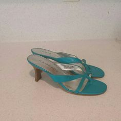 Rampage sandals Aquamarine sandals gently worn a few times! Rampage Shoes Sandals