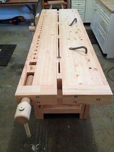 2014 Workbench Of The Month - Wood Vise Screw and Wooden Vise for Leg Vise, Wagon Vise, Shoulder Vise, Twin Screw Vise, Tail Vise and Face Vise for Wood Workbenches