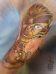 What does tiki tattoo mean? We have tiki tattoo ideas, designs, symbolism and we explain the meaning behind the tattoo. Tiki Tattoo, Tattoo Studio, Tatoos, Ideas, Cap D'agde, Thoughts