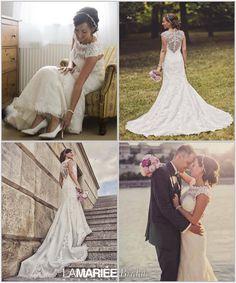Zsófia bride by La Mariée Budapest bridal #Landel dress by Pronovias