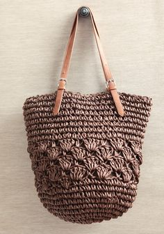 Shop vintage purses and handbags at Ruche to find backpacks, tote bags, clutch bags, and more. Ruche carries a variety of eye catching vintage bags! Summer Purses, Summer Bags, Free Crochet Bag, Crochet Bags, Crochet Handbags, Crochet Purses, Handbag Storage, Straw Tote, Vintage Purses