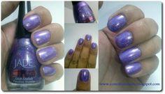 ¿Nos conocemos? Esmaltes Holográficos Jade #swatches #nails #uñas #comotepintaste #esmaltes #polish #holografico #holographic  #jade #violeta #violet