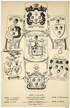 Moorish Crest/Coats of Arms of English and Scottish Families in medieval times