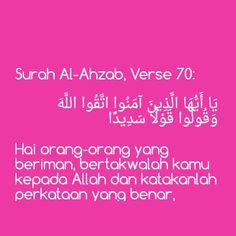 Surah Al-Ahzab, Verse 70