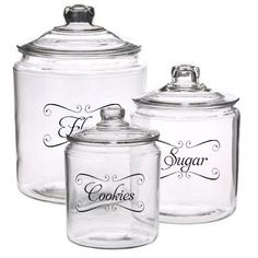 """Jar LABELS & Tags 5""""x3"""" to help Organize Your Pantry Vinyl Decals Choose any 4. $10.00, via Etsy."""