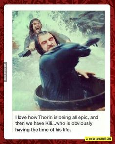 through so many parts of the movie! I ♡ Kili. (The Hobbit: The Desolation of Smaug) Kili is totally the best He's my hubby Der Hobbit Thorin, Fili Und Kili, O Hobbit, Hobbit Funny, Gandalf, Beau Film, Into The West, Into The Fire, Martin Freeman