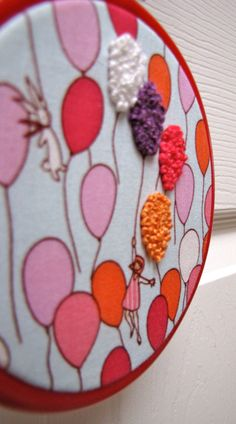 Embroider following the pattern of the fabric #hoopla