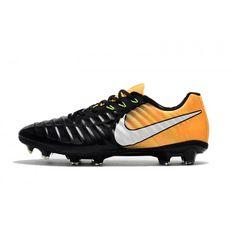 Billig Fußballschuhe 2017 Nike Tiempo Legend VII FG Schwarz Orange Online.  SortOutletBlack 8d72296b0ea66