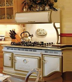 Elmira Appliances: Antique-style gas stove/oven. In black, please! Available in Minnesota at Nordic Home Interiors.