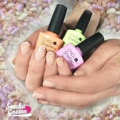 Fruit Sprinkle nails with CND™ SHELLAC™ Negligee, Be Demure, shells in the Sand and Sugarcane. #cnd #cndshellac #shellac #nail #nails #nailart #nailpro #nailswag #nailaddict #instanails #inspiration #fruitsparkle #rhythmandheat #cndrhythmandheat #sugarcane #shellsinthesand @cndnederland @cndworld
