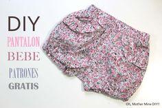 DIY Costura: Como hacer pantalon corto para bebe, niños y niñas. Canal de…