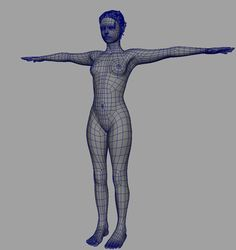 Picked up by CGchips. tutorials and news site… 3d Model Character, Character Modeling, Character Design, Maya Modeling, Modeling Tips, Body Drawing, Anatomy Drawing, 3d Face Model, Face Topology