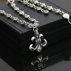 Punk Rock Flower trend anchor 100% real 925 sterling silver Necklace Pendant for accesorios mujer and men jewelry Hot Sale G8 //Price: $145.77 & FREE Shipping // Get it here ---> https://bestofnecklace.com/punk-rock-flower-trend-anchor-100-real-925-sterling-silver-necklace-pendant-for-accesorios-mujer-and-men-jewelry-hot-sale-g8/    #jewellery