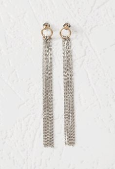 Chain Fringe Duster Earrings - Jewellery - Earrings - 1000157288 - Forever 21 EU English