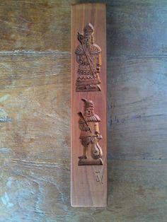 speculaasplank  -  cookie mold - spekulatiusbrett  hand carved by Jan Vande Voorde