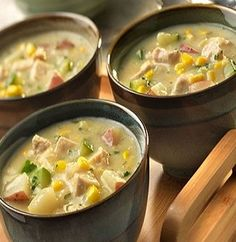 Chicken-Vegetable Chowder-is an easy and delicious recipe for a creamy, chicken chowder which takes only (1) hour from start to finish. It works great for left-over chicken. Main ingredients: Chicken, potatoes, corn, zucchini, onions, fresh parsley and canned cream of celery soup. It is also a healthy, low calories, low fat, low carbohydrates, low cholesterol, low sodium, low sugars, Weight Watchers (4 SmartPoints), heart-healthy and diabetic-friendly recipe. Makes 6 Servings.