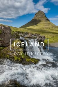 Iceland 6 Day Itinerary Pinterest