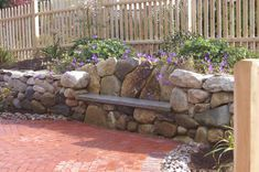 Look this awesome Garden bench Rustic Ideas 9096698631 Stone Garden Bench, Outdoor Garden Bench, Stone Bench, Modern Landscaping, Garden Landscaping, Outside Fireplace, Green Monsters, River Stones, Stone Work