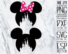 Disney Mickey head castle Clipart /PNG /transparent/ 300dpi /DXF file / svg files / cut files