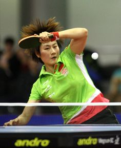 Ning Ding (CHN) at Polish Open - ITTF GAC World Tour, Poznań 11.11.2012