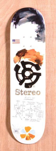 "Stereo Team Blues 8.25"" Skateboard Deck"