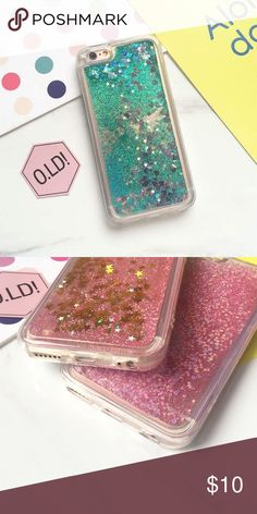 iPhone Mint Liquid Glitter Case iPhone liquid glitter hearts moving waterfall case ***COLOR ACCORDING TO 1ST PIC*** IPHONE 5/5S/SE DOES NOT COVER THE EDGES Accessories Phone Cases
