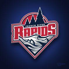 French River Rapids Junior A Hockey Club on Behance - American Logo Sport Theme