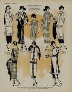 1924 Two Pages Fashion Styles Fabulous Dresses