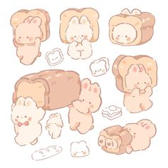 Kawaii Icons, Kawaii Art, Cute Food Art, Cute Art, Kawaii Stickers, Cute Stickers, Printable Stickers, Korean Stickers, Cute Kawaii Drawings
