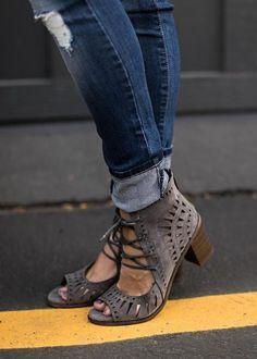 Gabby Lace Ups - Grey