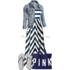 Maxi Dress & Flat Sandals, created by casuality on Polyvore