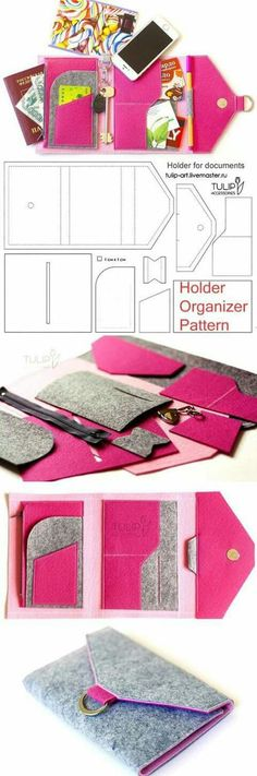 Lightweight felt organizer for sewing. How to sew a purse Tutorial. Lightweight felt organizer for sewing. How to sew a purse … The post Tutorial. Lightweight felt organizer for sewing. How to sew a purse appeared first on Best Pins for Yours. Sewing Hacks, Sewing Tutorials, Sewing Crafts, Sewing Patterns, Sewing Tips, Tutorial Sewing, Bag Tutorials, Sewing Ideas, Felt Patterns