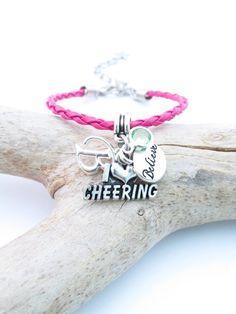 Cheerleading Jewelry Believe Bracelet Cheer Gift I Love