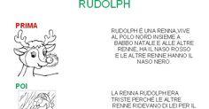 Nei prossimi giorni ho programmato di raccontare ai bambini la leggenda della renna Rudolph, l'ultima renna di Babbo Natale con una partic...