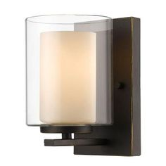 Filament Design Wesson 1-Light Olde Bronze Wall Sconce-CLI-JB039542 - The Home Depot