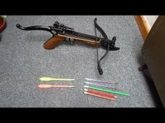 Testing several improvised/Homemade crossbow bolts against each other and also some real bolts. I used an Pistol Crossbow. Crossbow Targets, Crossbow Bolts, Diy Crossbow, Crossbow Arrows, Crossbow Hunting, Survival Weapons, Survival Prepping, Survival Gear, Wilderness Survival