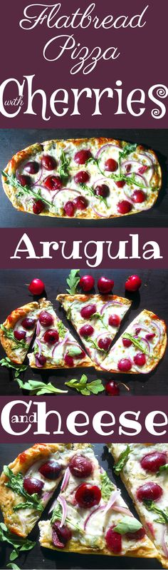Flatbread Pizza never tasted so good! Add Cherries, Pesto, Red Onions and Arugula to get this magnificent recipe. Dried rosemary gives it a wonderful aroma.