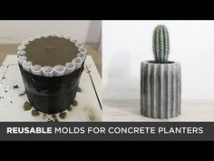I have made a lot of concrete planters and this time I wanted to experiment with making reusable molds. This segmented concrete planters are made out of Quik. Concrete Planter Molds, Diy Wooden Planters, Concrete Pots, Concrete Casting, Pallet Planters, Concrete Design, Diy Concrete Mold, Recycled Planters, Galvanized Planters