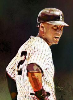 """""""Derek Jeter Legendary New York Yankee's Shortstop"""" by Eduardo Vela"""