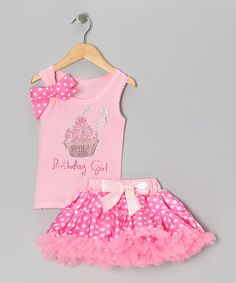 Take a look at this Pink Birthday Girl 3 Tank & Pettiskirt - Toddler & Girls by So Girly & Twirly on #zulily today!