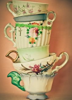 Tea Cups Photograph by KGriffinPhotography on Etsy