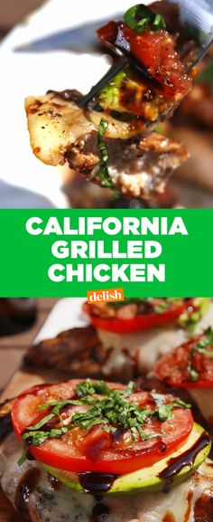 California Grilled Chicken Is About To Be Your Healthy Dinner Obsession - Delish Turkey Recipes, Meat Recipes, Dinner Recipes, Cooking Recipes, Healthy Recipes, Dinner Ideas, Recipies, Meal Ideas, Food Ideas