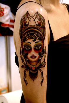 I like the style the person did with this tattoo.