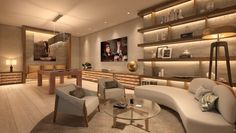 South Tower penthouse at Auberge Beach Residences & Spa, Fort Lauderdale. Contemporary Games, Spa Treatment Room, Glass Building, Cozy Corner, Fort Lauderdale, Luxury Living, Modern Design, Modern Decor, Architecture Design